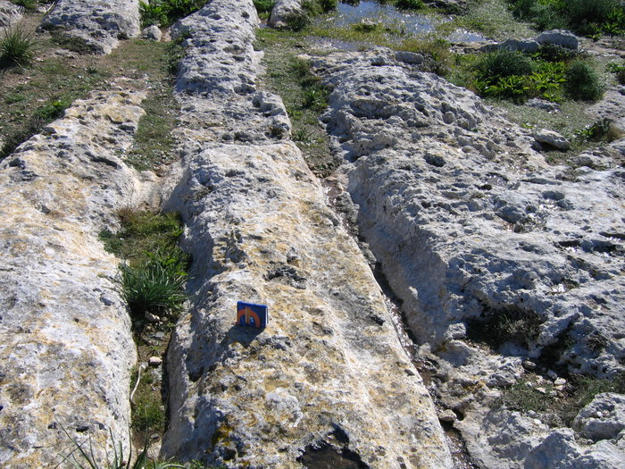 Malta island, scarps of Dingli cliff, 100 m to the east of chapel Madalena. H=250m