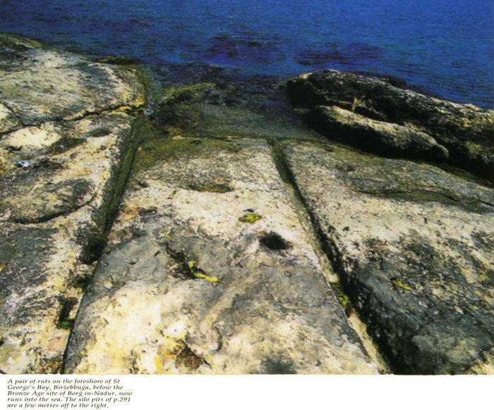 Malta island, the shore of the bay St. Georg. The photo taken by Daniel Cilia, published in the book by D.H.Trump Malta. Prehistory and Temples.