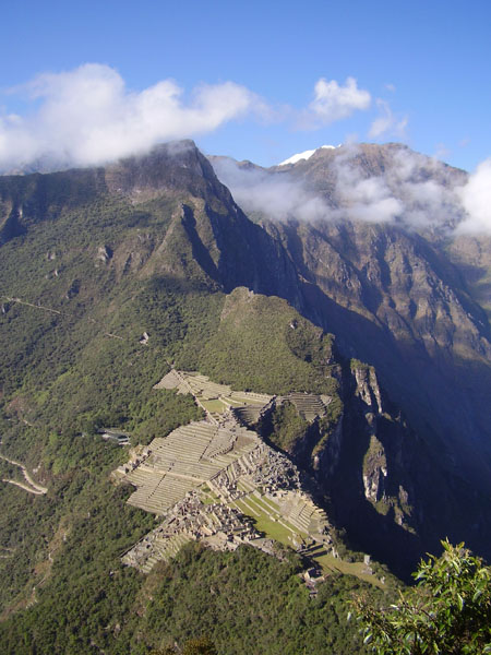 Foreground plan – the city Machu-Picchu, view from Wayna-Picchu